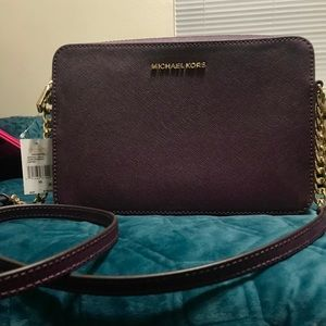 Authentic Michael Kors Leather Crossbody Bag